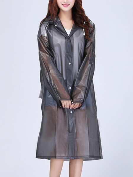 1pc Solid Hooded Raincoat
