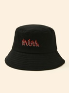 Flame Embroidery Bucket Hat