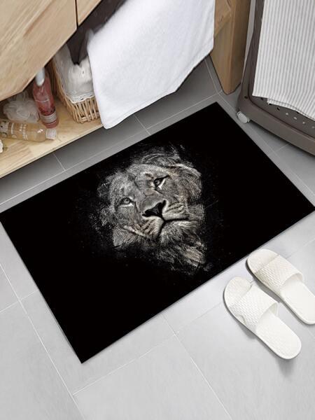Lion Print Floor Mat