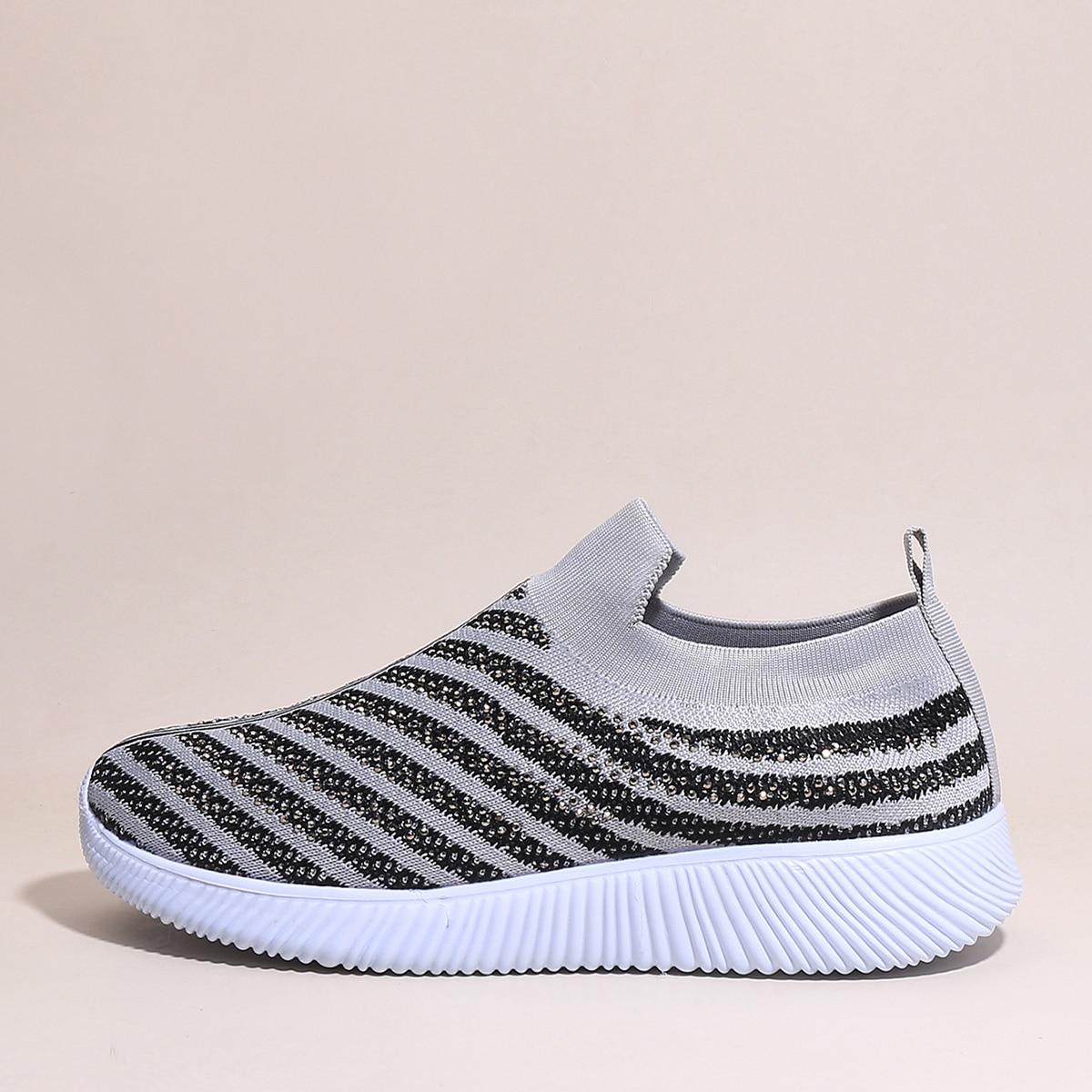 shein Gestreept Sneaker Bergkristal