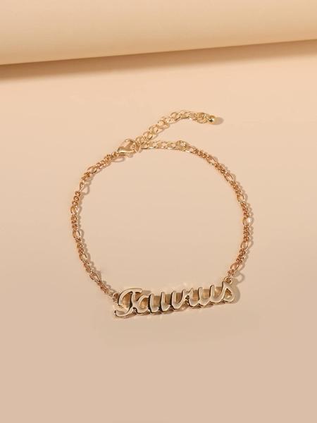 Taurus Letter Decor Zodiac  Bracelet