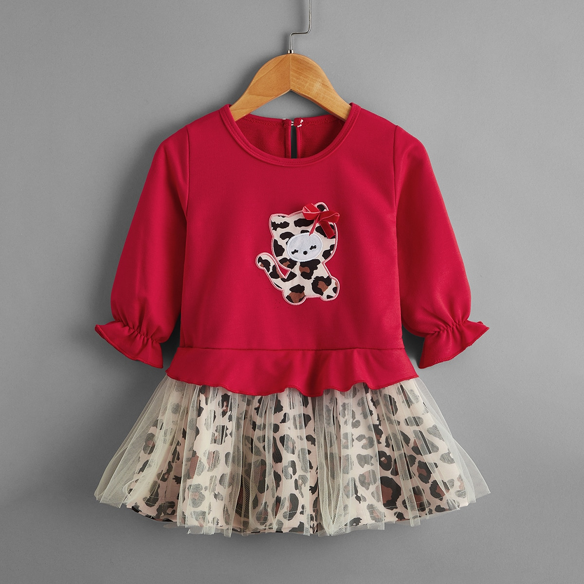 shein Casual Spotprent Baby-jurk Boog