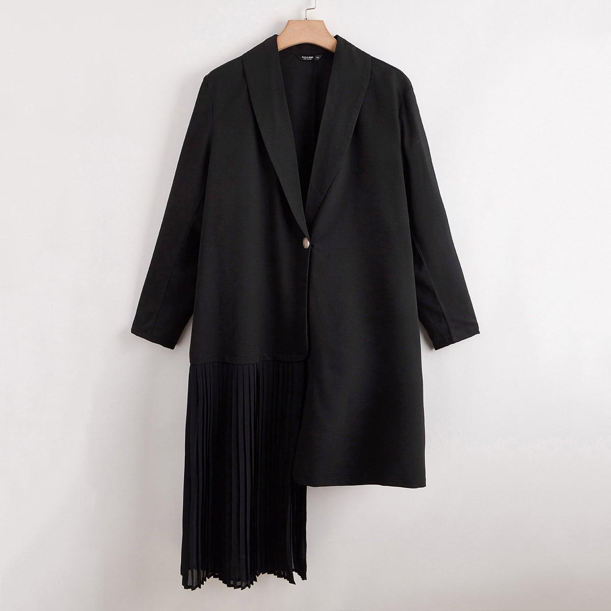 shein Casual Vlak Grote maat: blazer Asymmetrisch