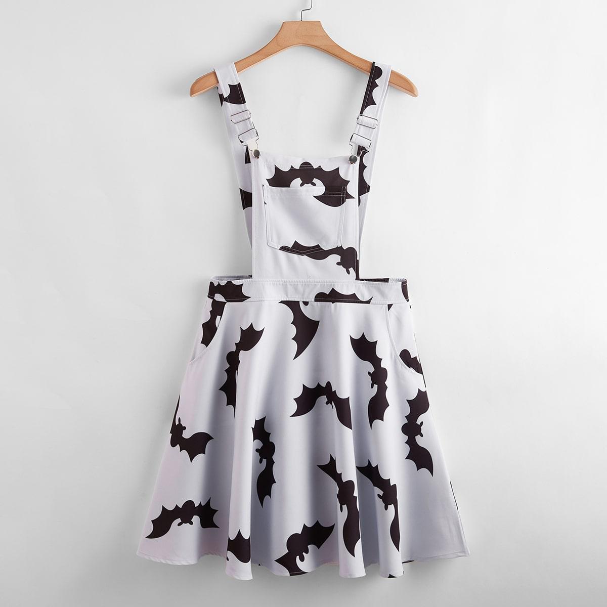 SHEIN / Kleid mit Fledermaus Muster