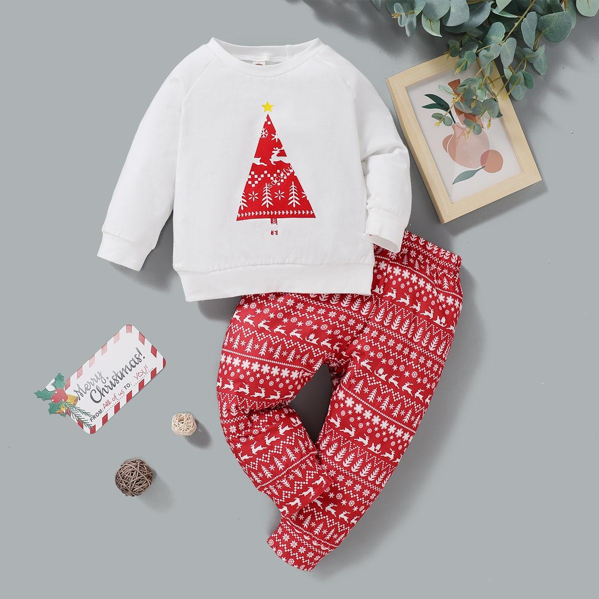 shein Casual Kerstmis Baby-setjes