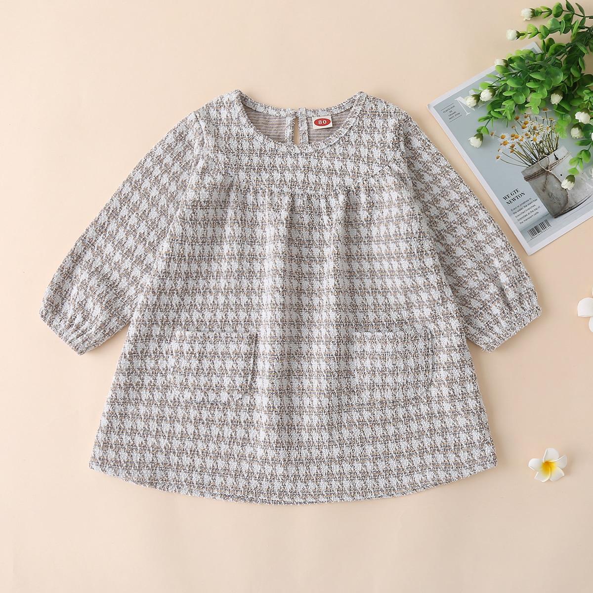 shein Casual Baby-jurk Knoop