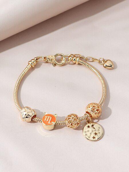 Round Charm Bracelet