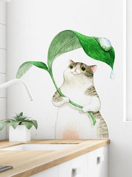 Cat Print Wall Sticker