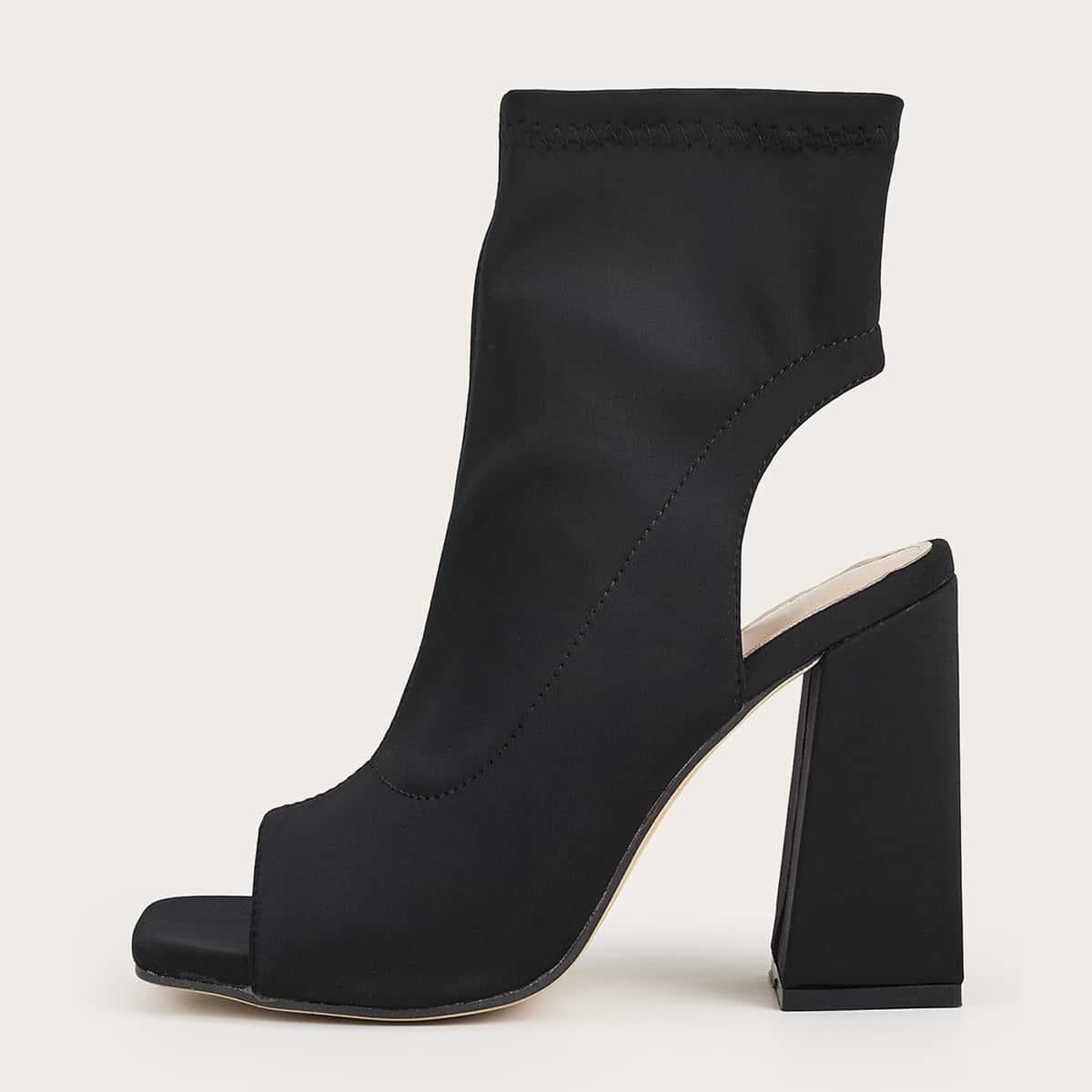 SHEIN / Stiefel mit Ausschnitt hinten und klobiger Sohle