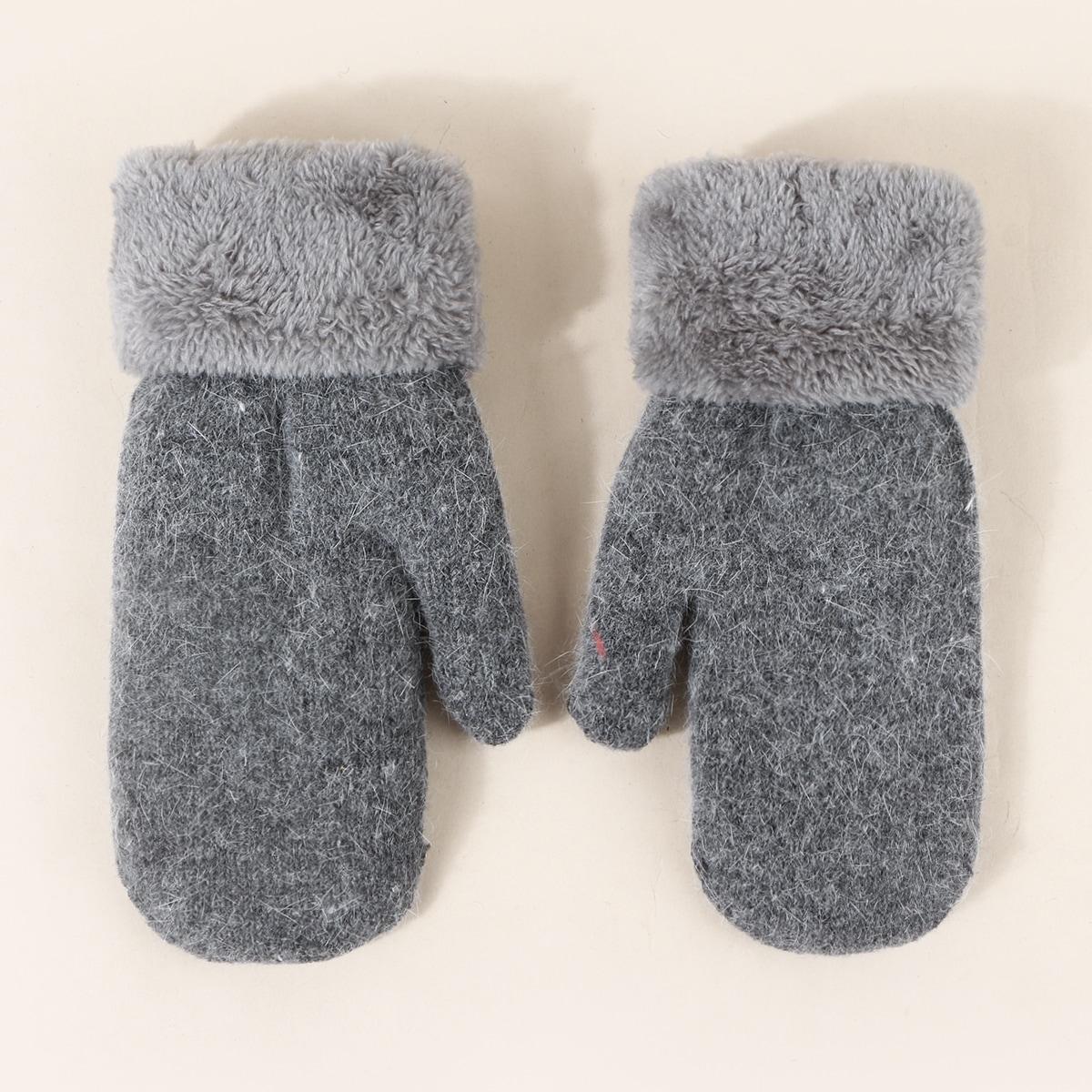 Перчатки с отделкой из искусственного меха