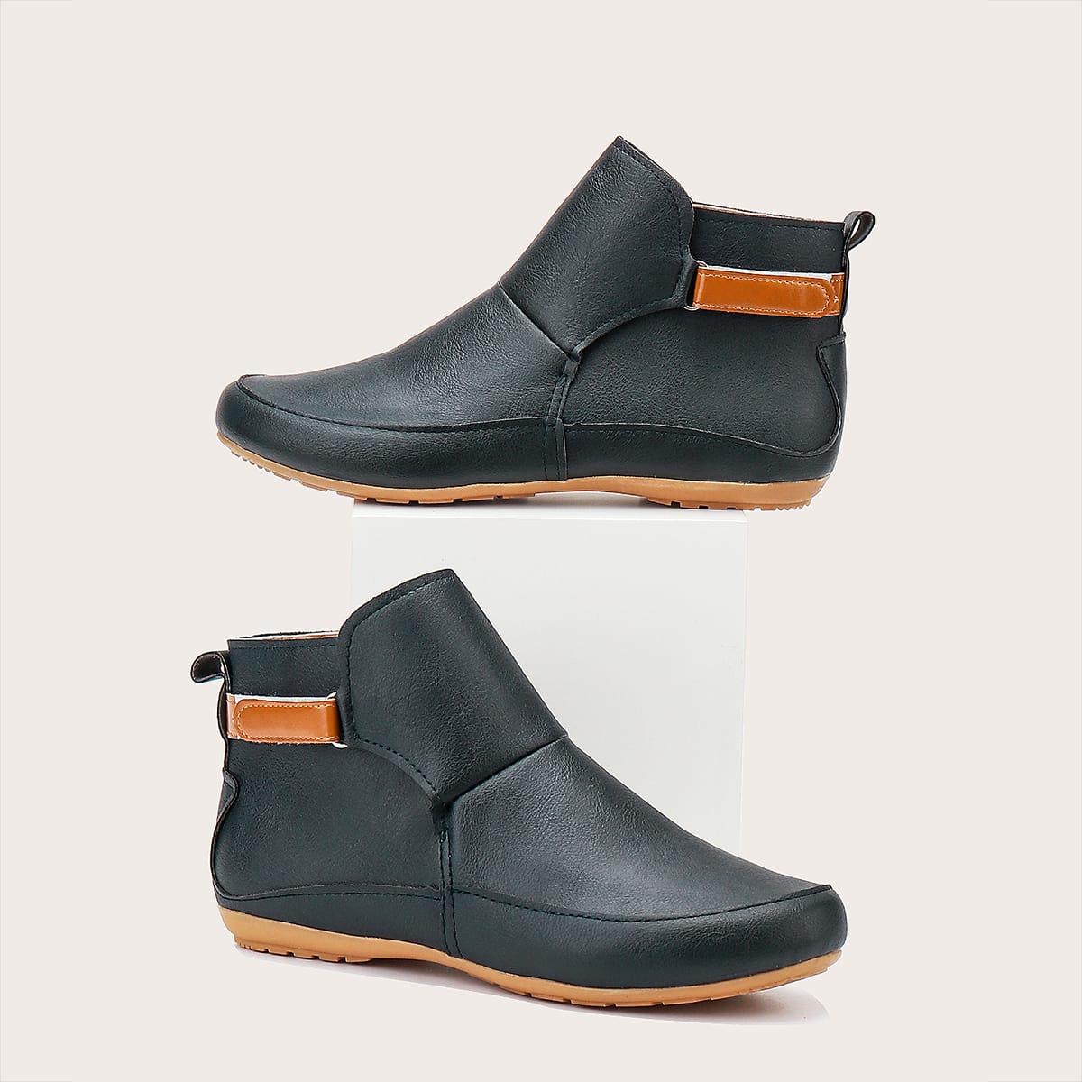 SHEIN / Minimalistische Stiefel mit Klettverschluss
