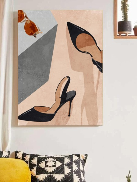 High Heels Print Wall Painting Without Frame