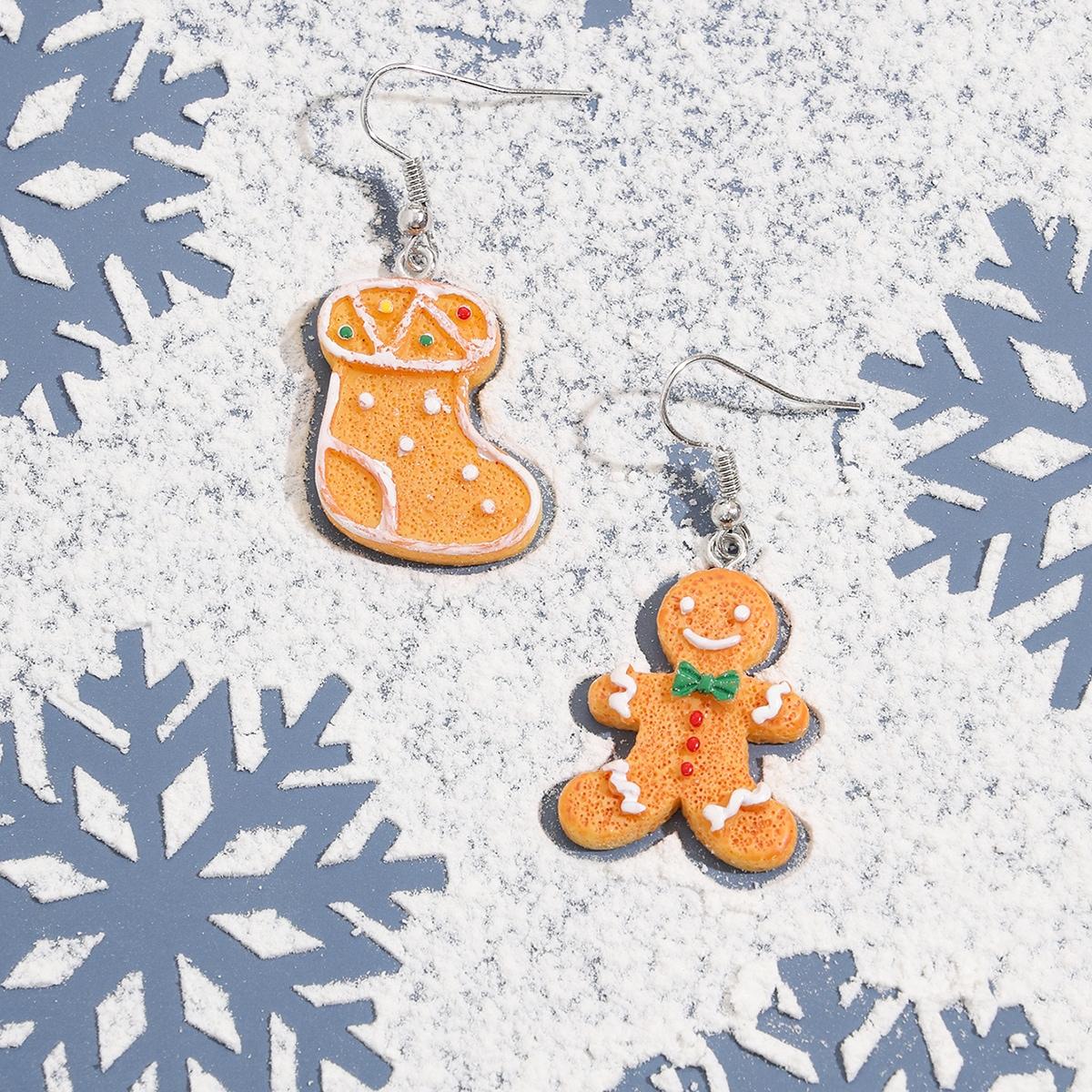 SHEIN / Weihnachten Ohrringe mit Schneemann Design und Keks Design