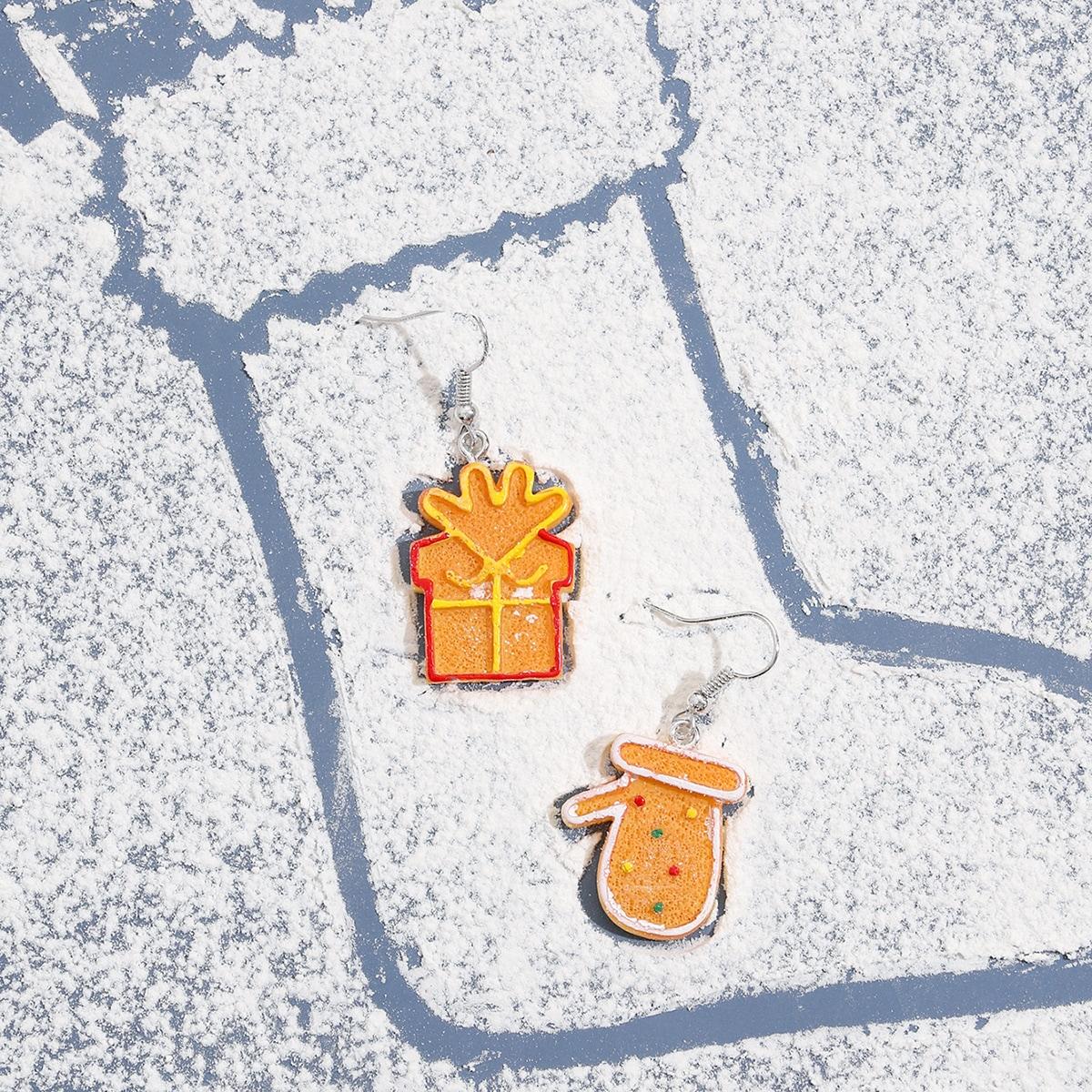 SHEIN / Weihnachten Ohrringe mit Keks Dekor