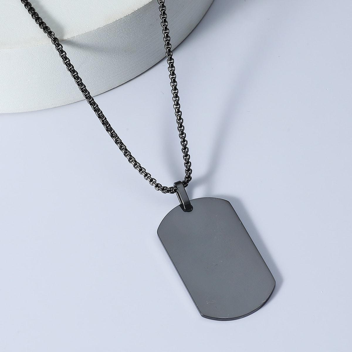 Мужское ожерелье с геометрической подвеской от SHEIN