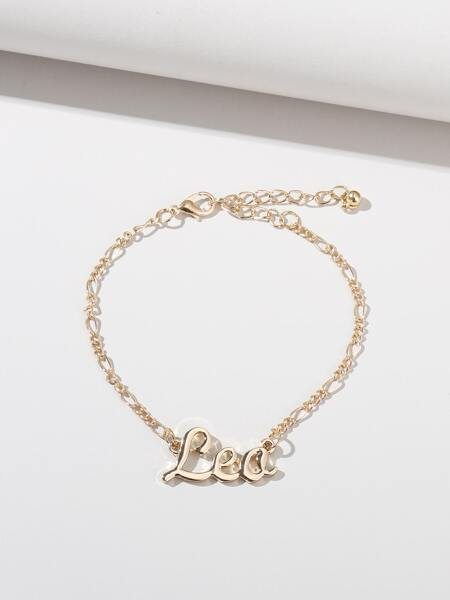Letter Decor Chain Bracelet
