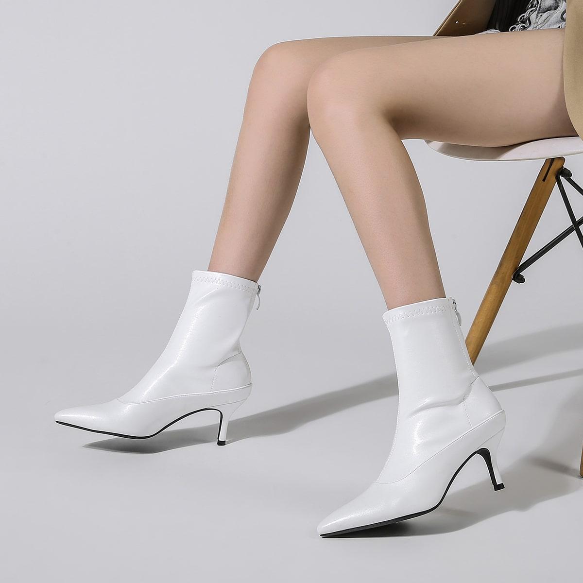 SHEIN / Minimalistische Stiefel mit Stöckelabsatz