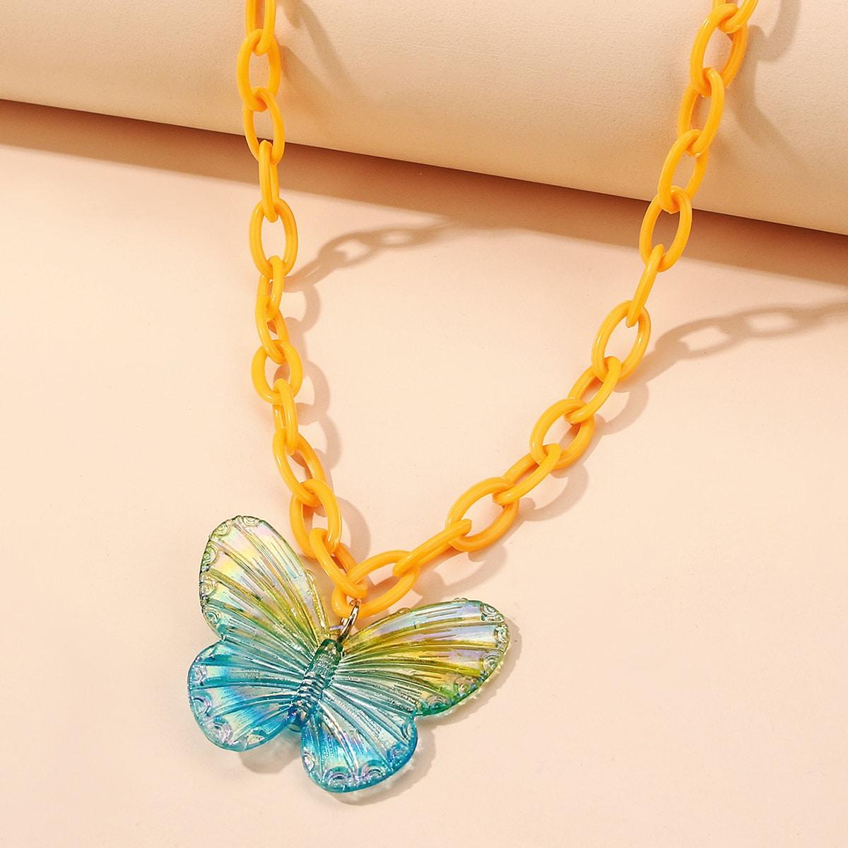 SHEIN / Mädchen Halskette mit Schmetterling Dekor und Kette