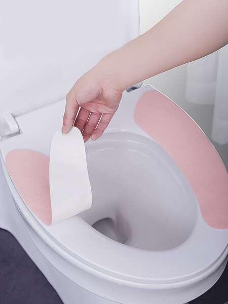 1pair Random Color Toilet Seat Sticky Cushion