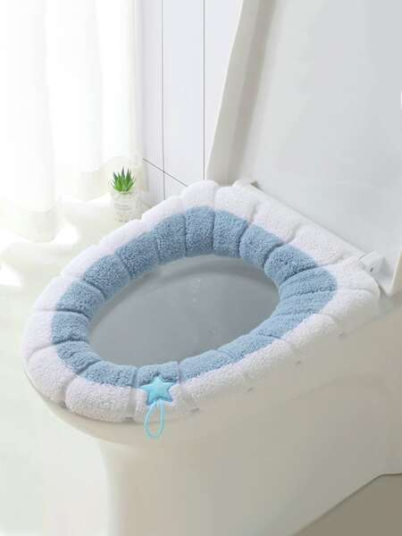 1pc Plush Toilet Seat Cover
