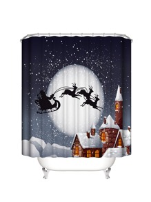 Christmas   Curtain   Shower