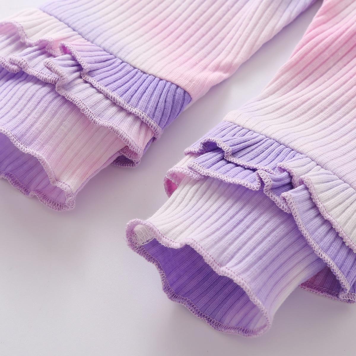 shein Schattig Tie dye Baby-setjes Rimpeling