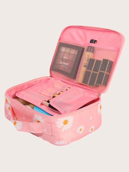 Daisy Print Travel Storage Bag