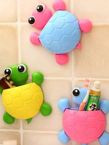 1pc Turtle Shaped Random Color Storage Rack