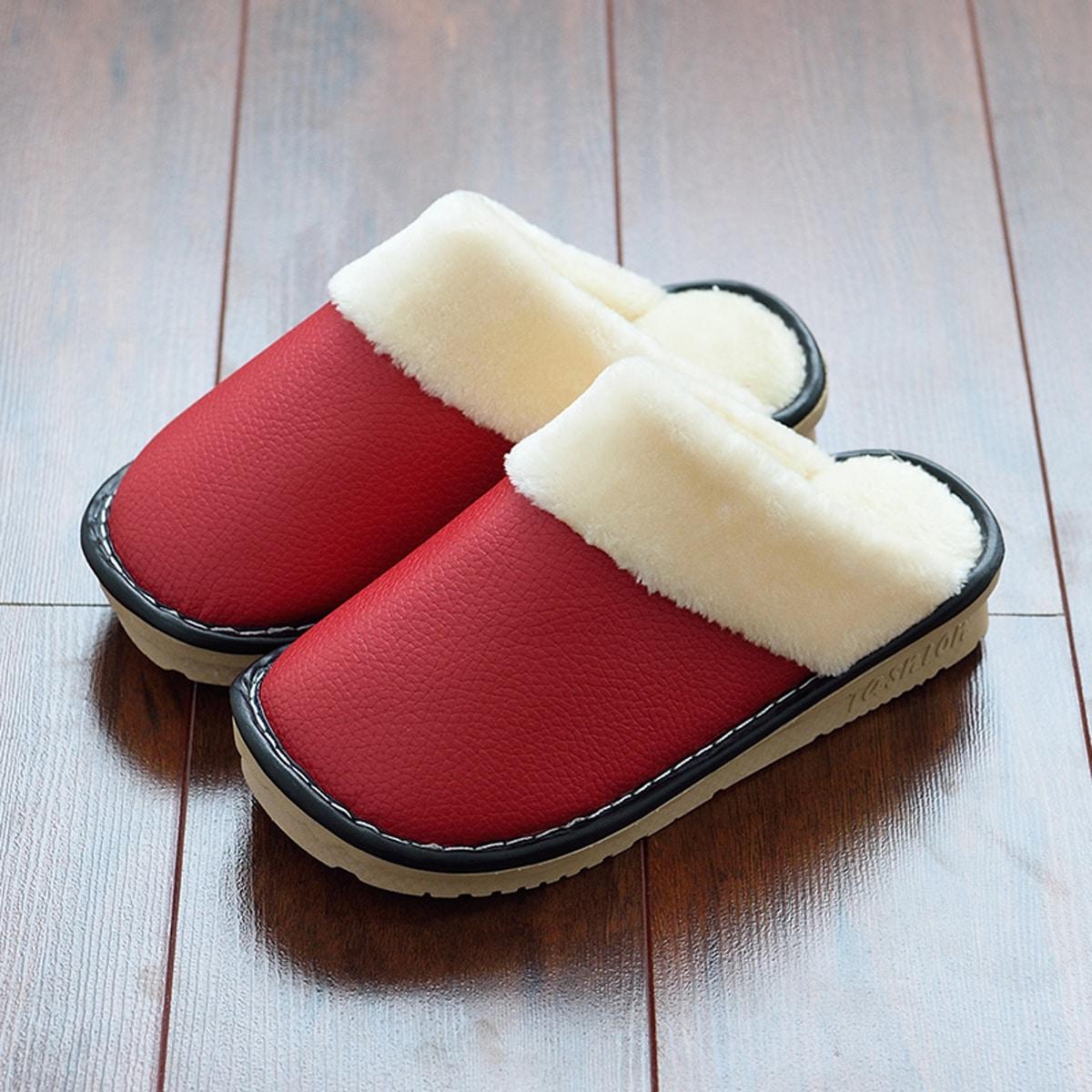 Мужские теплые шлепнацы на плюшевой подкладке от SHEIN