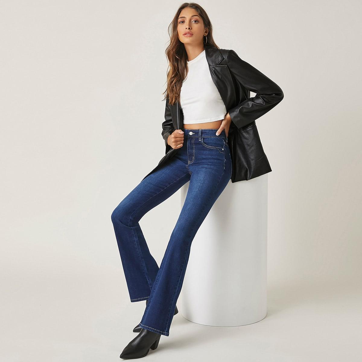 BLUES Расклешенные джинсы с высокой талией