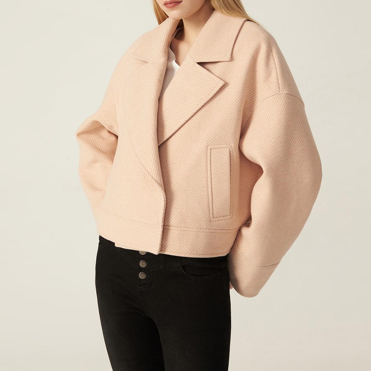 Кроп пиджак оверсайз из твила от SHEIN