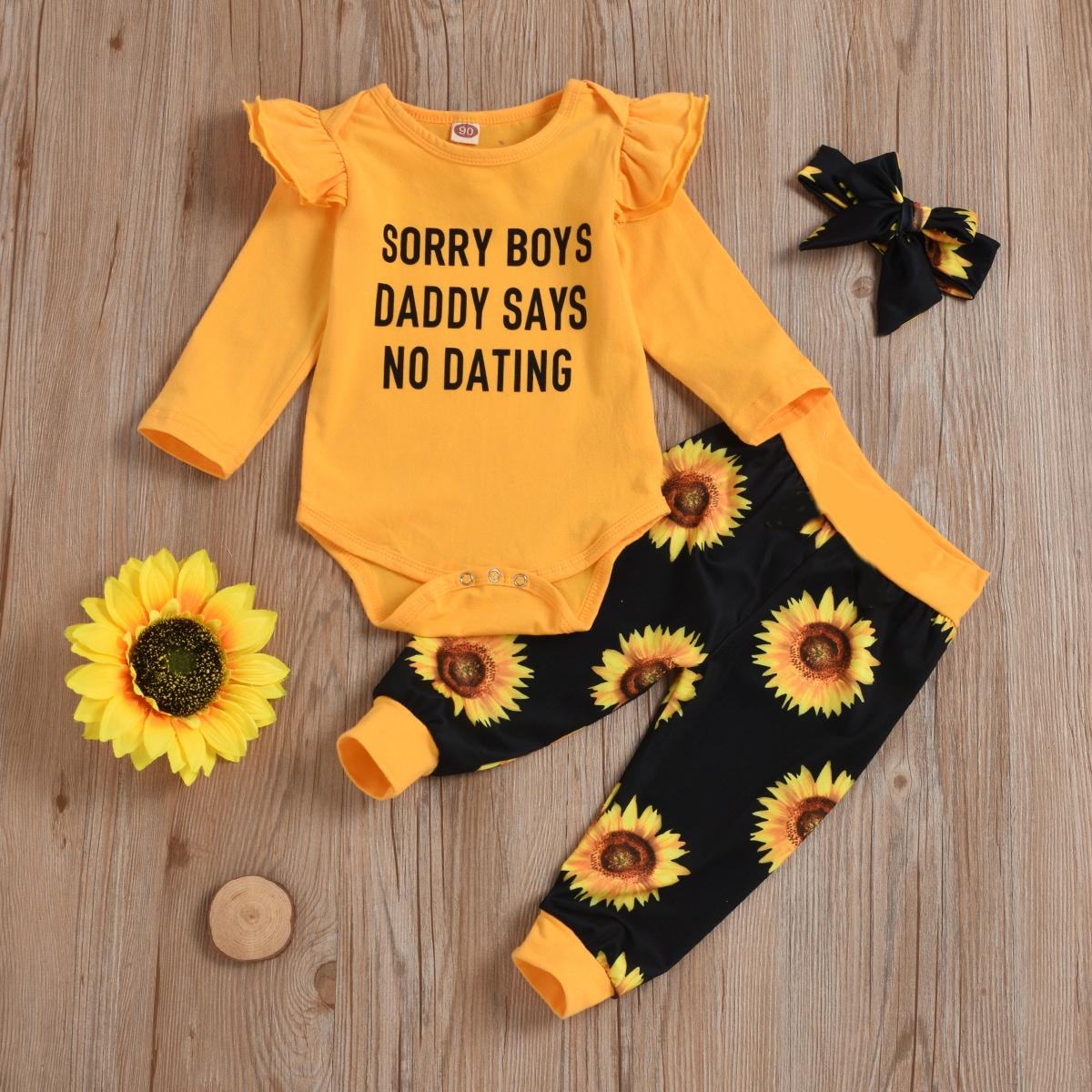 shein Casual Bloemen Baby-setjes Rimpeling