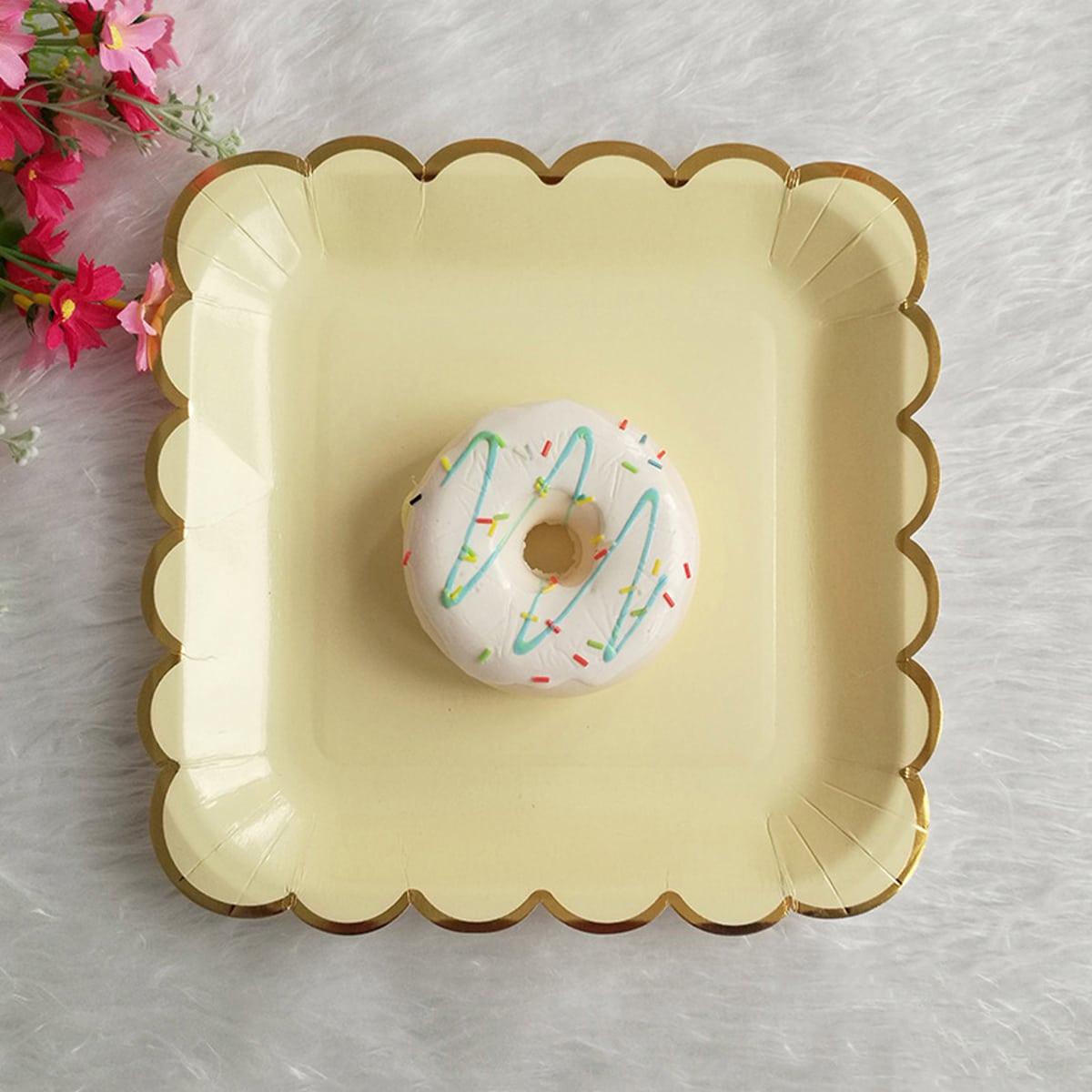 8шт одноразовая квадратная тарелка
