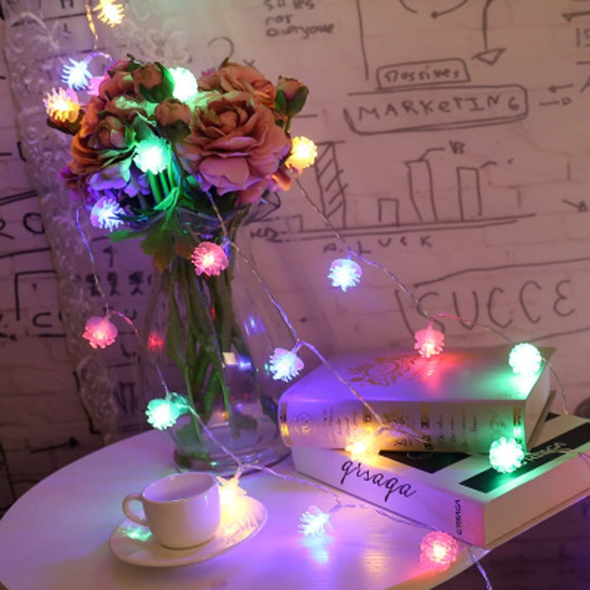 SHEIN / 1 Stück 3m Lichterkette mit 20 Stücke Birne