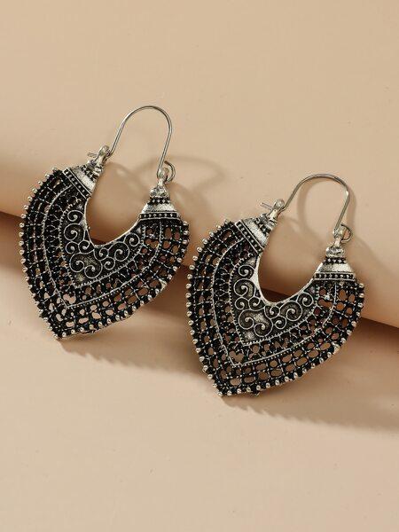 Hollow Out Hoop Earrings