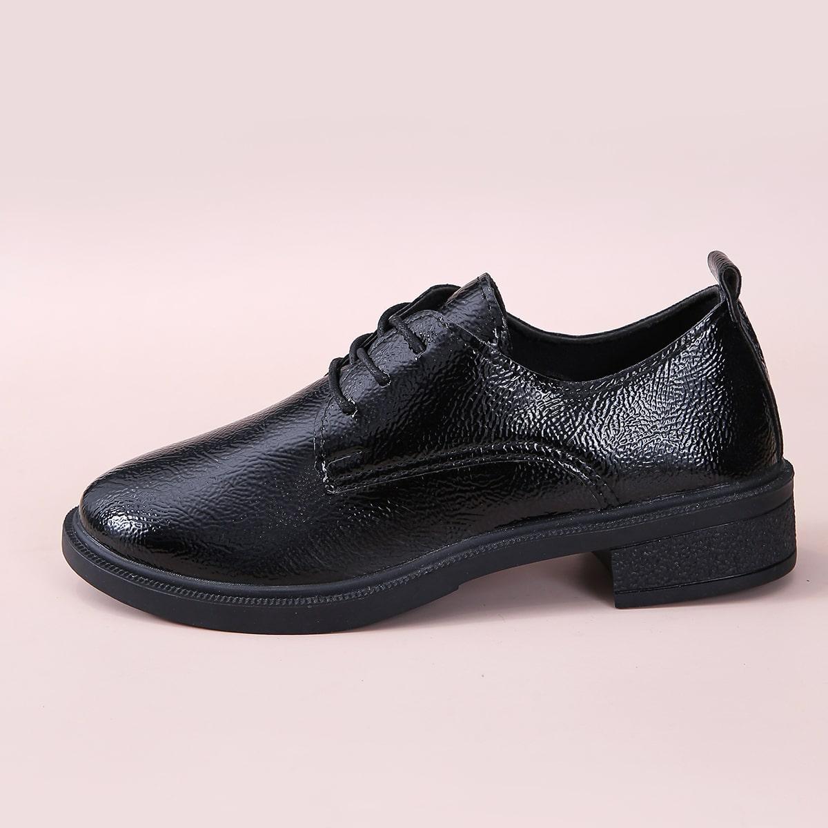 SHEIN / Minimalistische Derby Schuhe mit Band vorn