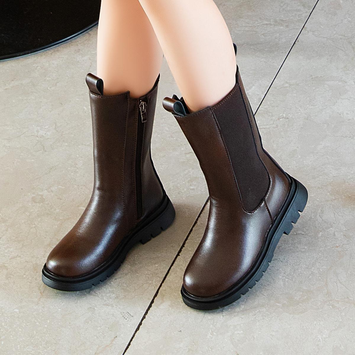 SHEIN / Kleinkind Mädchen Minimalistische Chelsea Stiefel