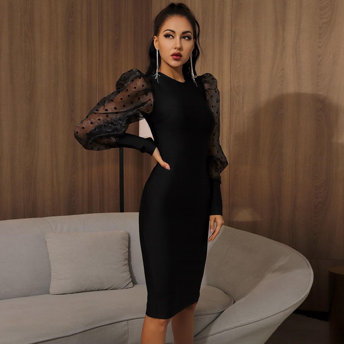 Vestidos Cremallera Liso Elegante