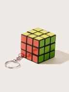 Faux Rubiks Cube Charm Keychain
