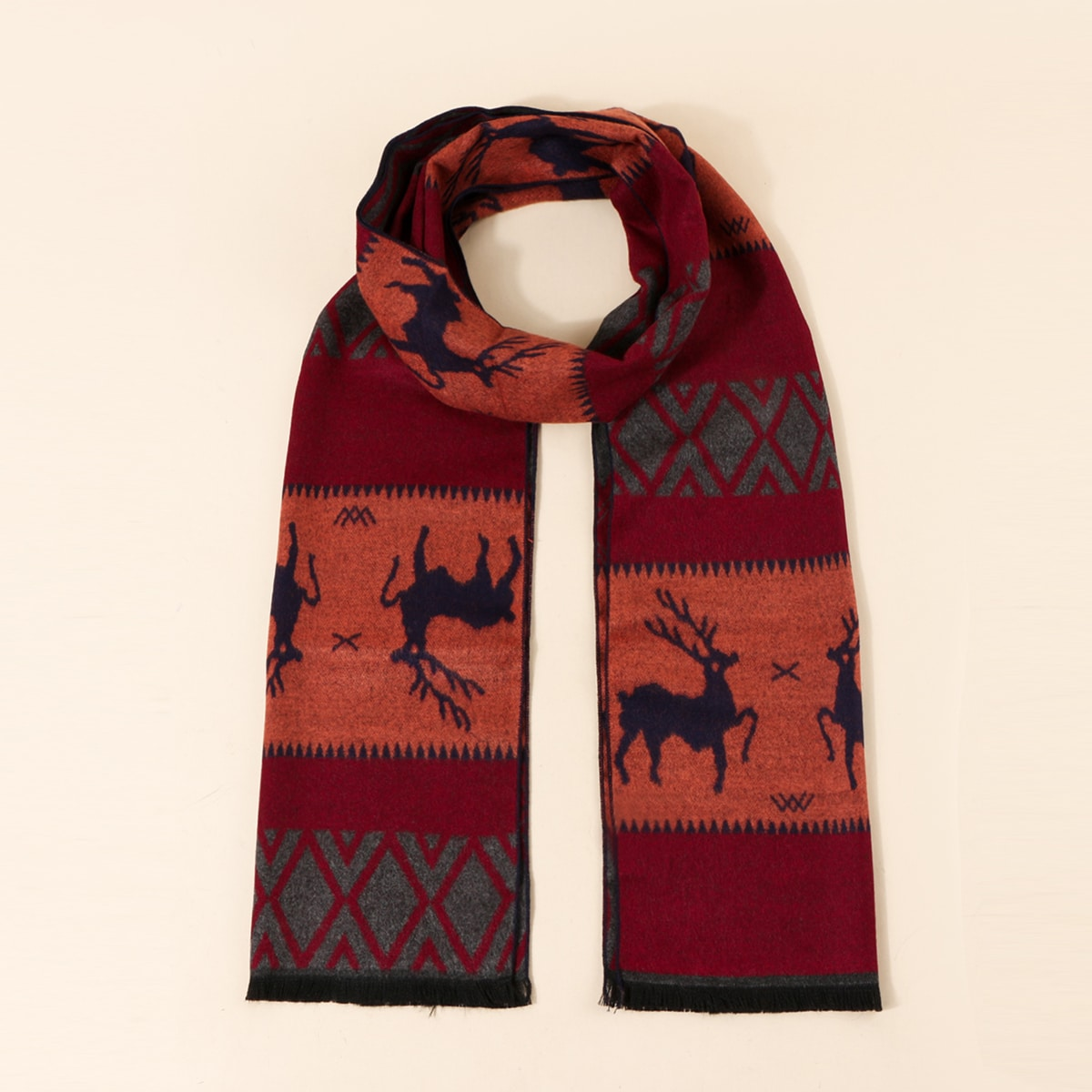 shein Mannen kerst dierlijke patroon sjaal