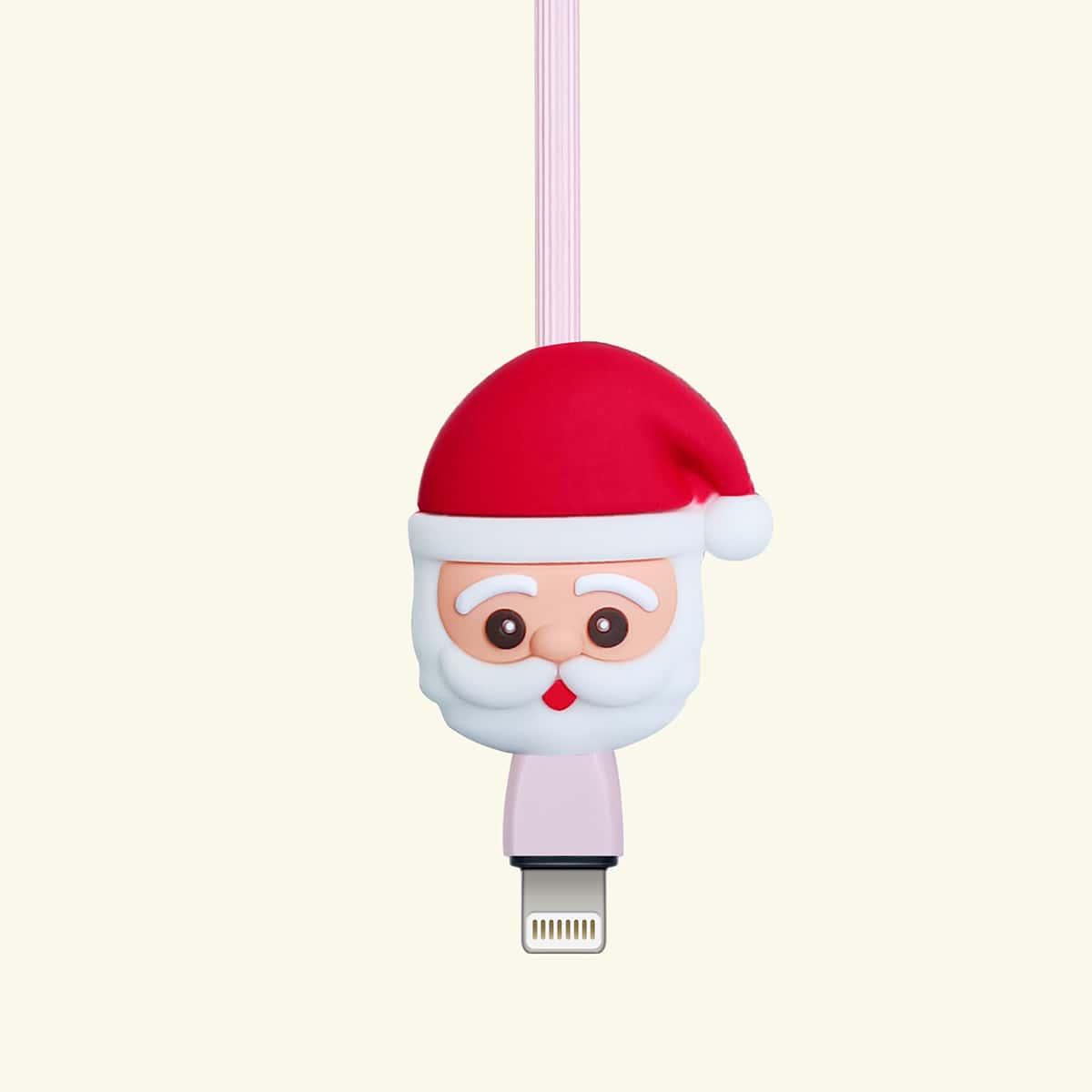 Рождественский протектор кабеля для передачи данных в форме Санта