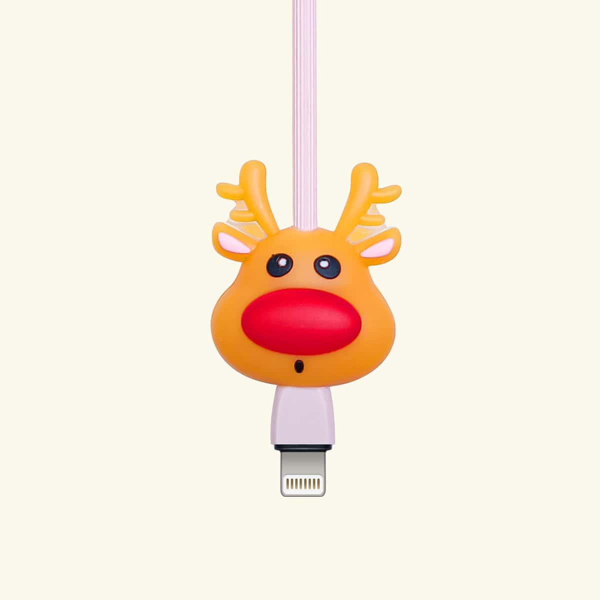 Рождественский мультипликационный протектор кабеля для передачи данных
