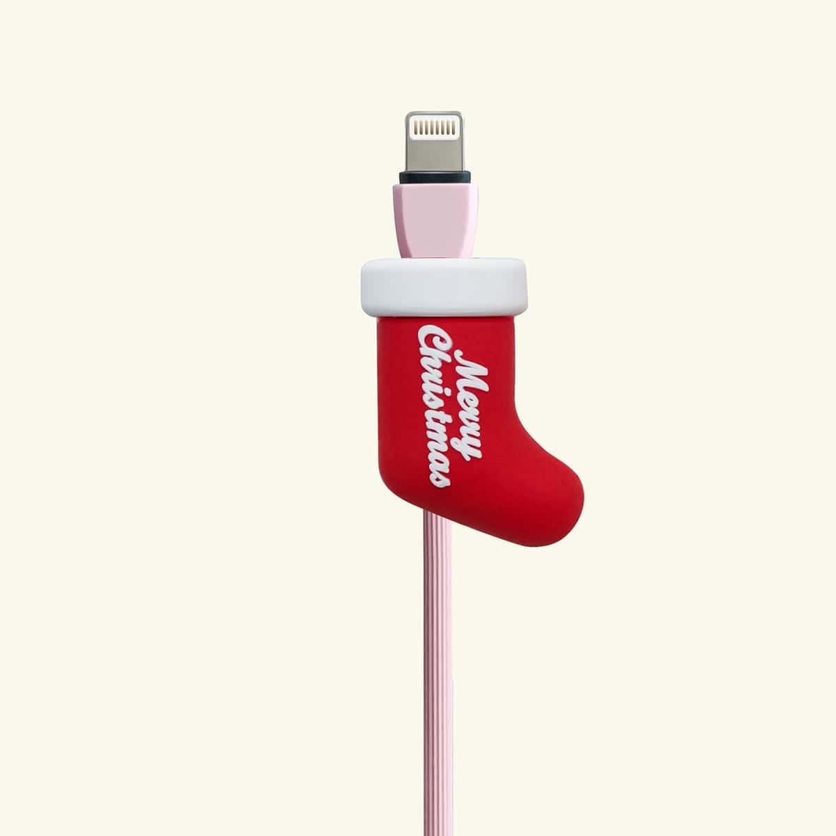 Протектор кабеля передачи данных в форме рождественского носка