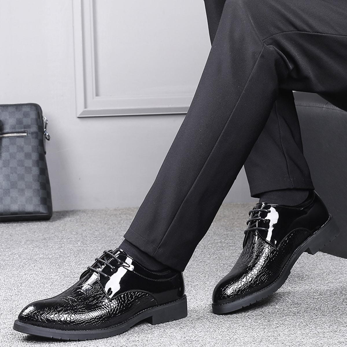 shein Kant Krokodil Gekleede schoenen