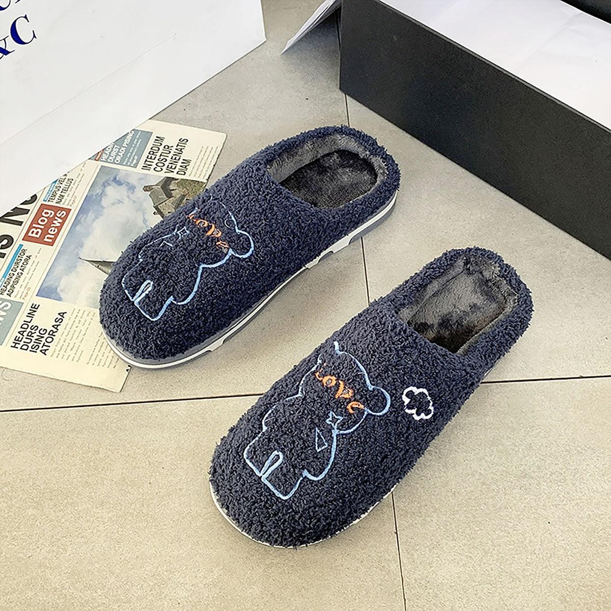 shein Spotprent Heren slippers