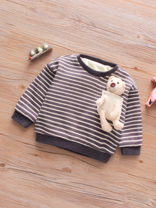 Decoration   Sweatshirt   Toddler   Stripe   Bear   Girl
