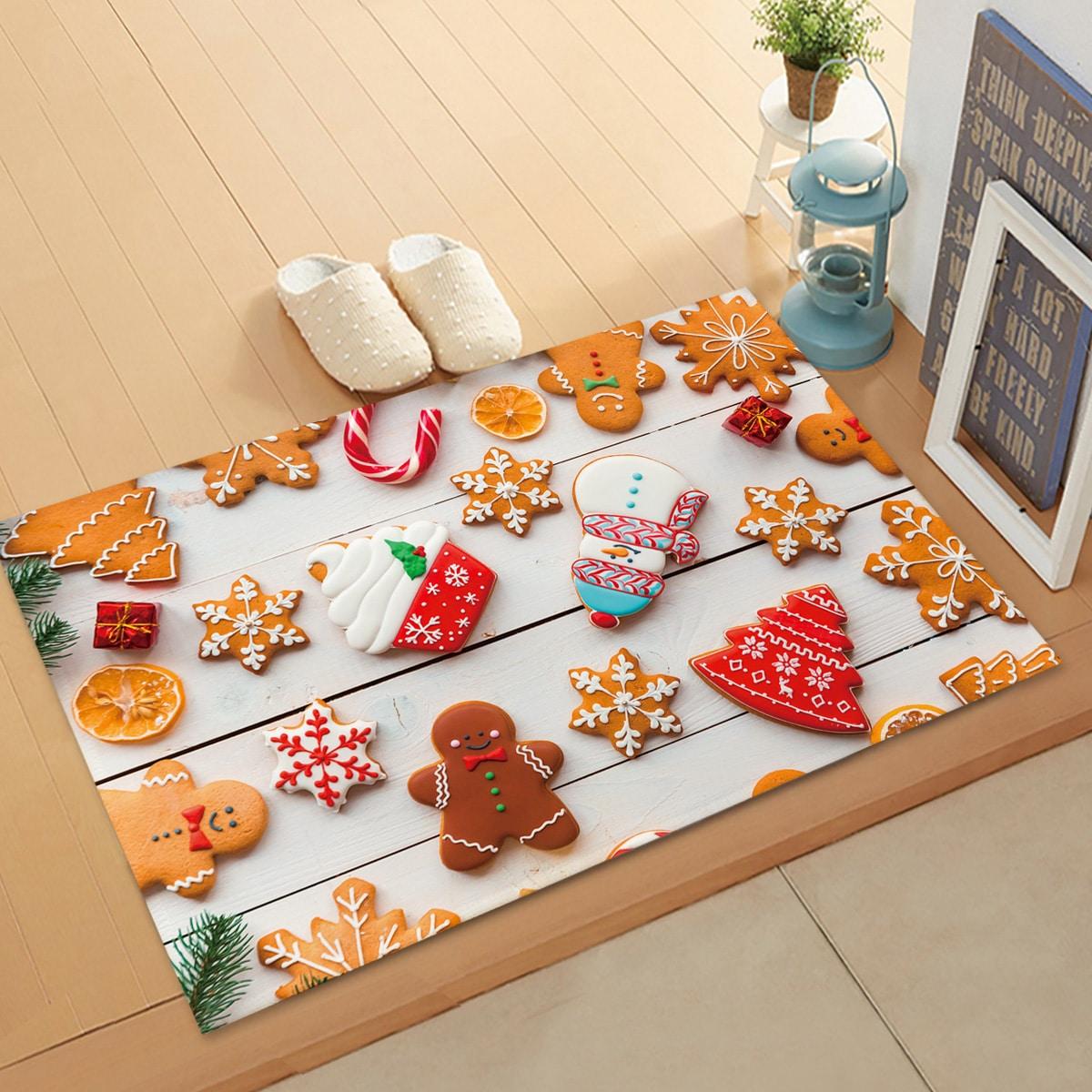 SHEIN / Weihnachten Bodenmatte mit Keks Muster