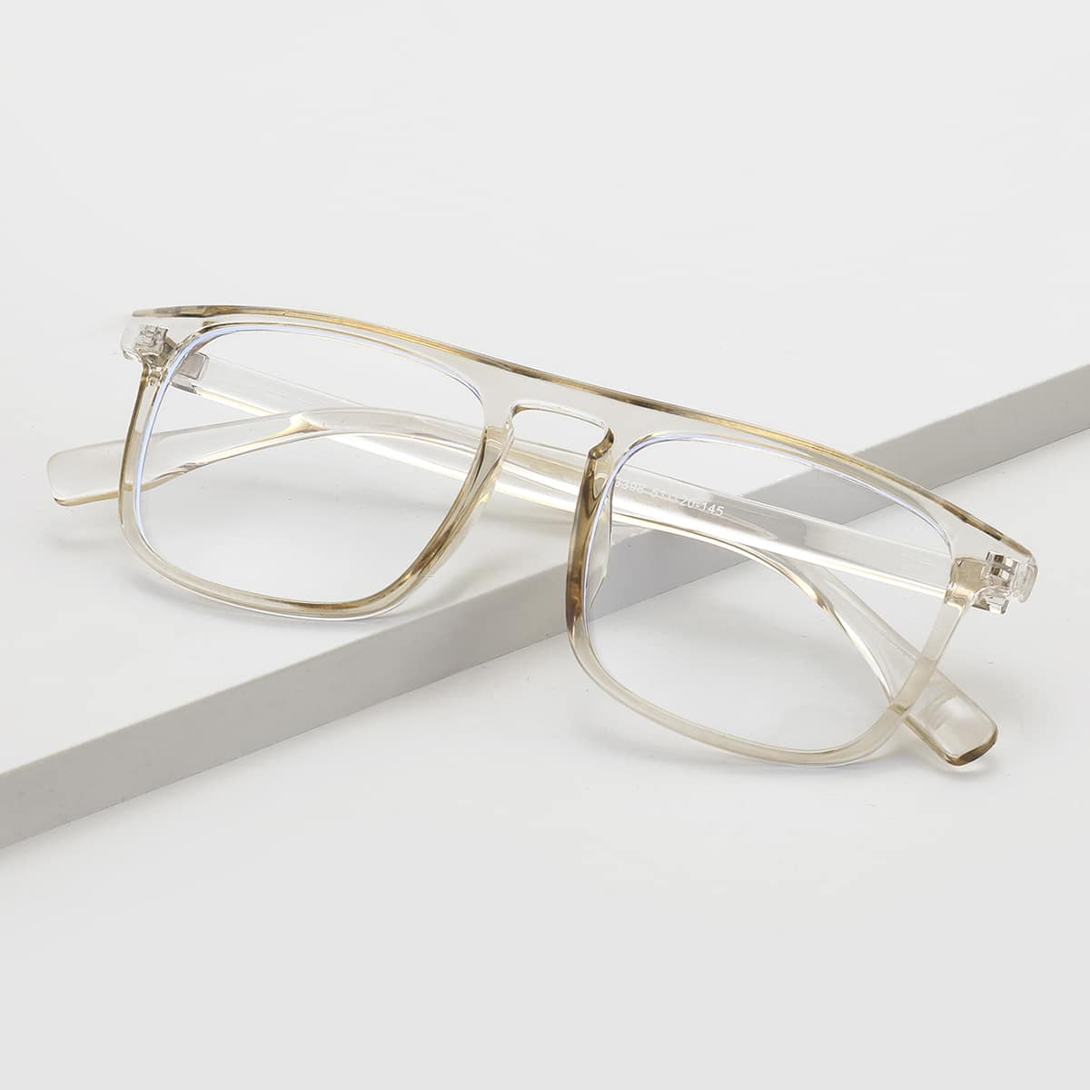 shein Mannen acryl montuur bril
