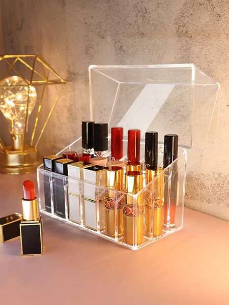 1pc 18 Grid Clear Lipstick Storage Box
