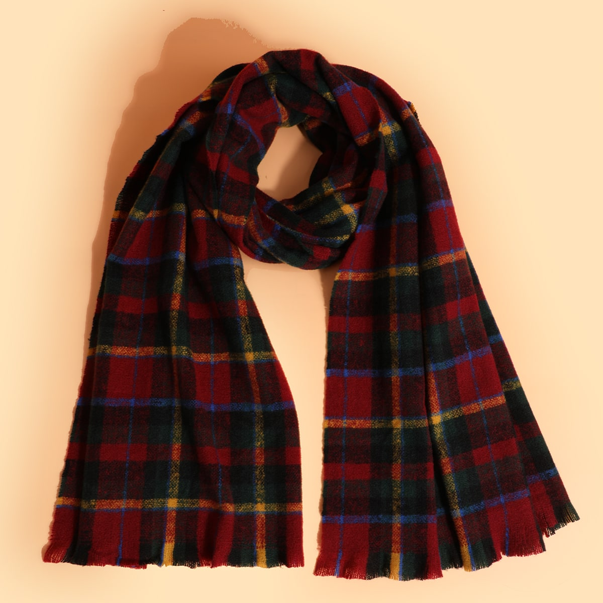 shein Mannen geruite patroon sjaal